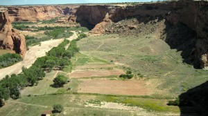 Canyon de Chelly -- looking down at floor