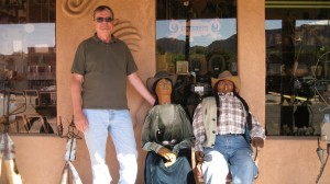 Walking around Moab -- Carl's new friends