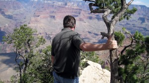 Grand Canyon - Carl looking down...