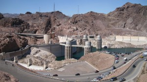 Hoover Dam from lookout above