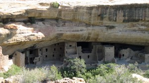 First view of an Anasazi cliff dwelling