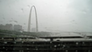 Gateway Arch in St. Louis; winds by Hurricane Ike