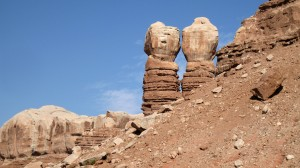 Navajo Twin Rocks in Utah