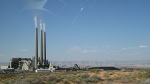Coal burning power plant outside of Page, Az