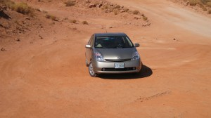 2005 Toyota Prius at Monument Valley -- our own ad!