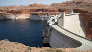Glen Canyon Dam -- Notice the water level