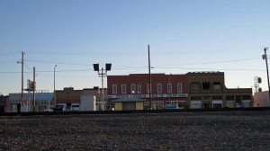 Lordsburg, New Mexico from RR tracks