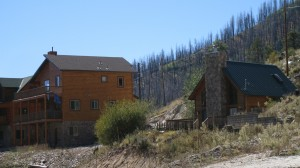 Village of Summerhaven at 7,840 feet -- notice burnt trees from 2003 fire