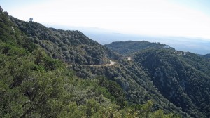 View of Road to leading to Kitt Peak