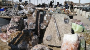 Fossils and Geodes in the background