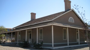 The Quartermaster's House. Inside is a museum of how the house looked when it was occupied.