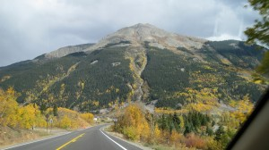 Approaching Molas Pass -- at top of pass it is 10,910 feet