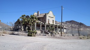 Train Station in Rhyolite