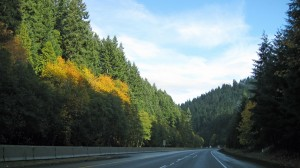 Scene from I-5 in Oregon