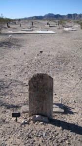 Wooden Grave Marker at Hi Jolly -- this has been here since 1863